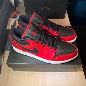 New Air Jordan 1 low reverse bred